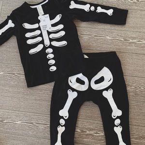 H&M Skeleton 2 piece set
